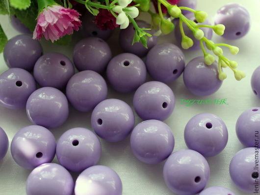 Для украшений ручной работы. Ярмарка Мастеров - ручная работа. Купить Бусины акриловые 20 мм св.фиолетовый. Handmade.