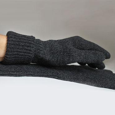 Аксессуары ручной работы. Ярмарка Мастеров - ручная работа Перчатки: Перчатки кашемировые вязаные маренго. Handmade.