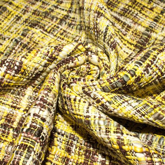 Шитье ручной работы. Ярмарка Мастеров - ручная работа. Купить Букле  хлопковое CHANEL  желто-серое. Handmade. Итальянские ткани