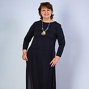 Одежда handmade. Livemaster - original item Blouse Tunic black knit Boho tunic women`s. Handmade.