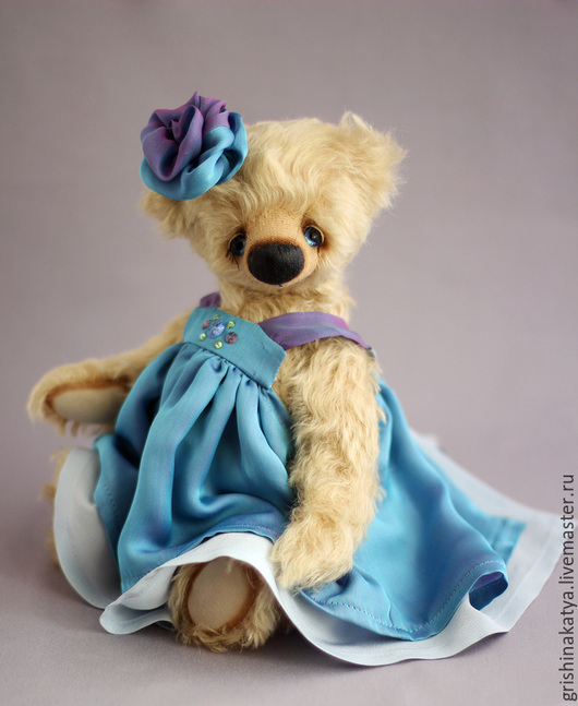 Мишка Тедди Виолетта. Коллекционный мишка Тедди.