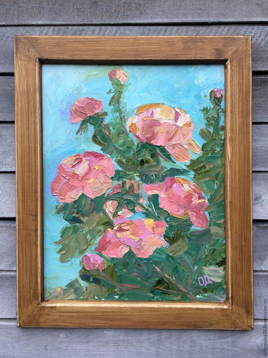 """Картины цветов ручной работы. Ярмарка Мастеров - ручная работа. Купить Картина маслом  """"Розы"""". Handmade. Комбинированный, масляная живопись"""