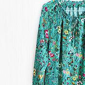 Одежда ручной работы. Ярмарка Мастеров - ручная работа Шелковая блуза, блуза из шелка, блуза ручной работы, шелковая рубаку. Handmade.