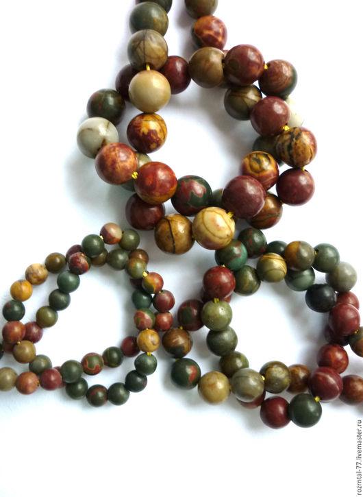 Яшма Пикассо бусины камни для украшений,очень красивый рисунок, гладкие бусины,качество бусин поделочное. В бусинах присутствуют естественные природные недочеты,щербинки и включения.