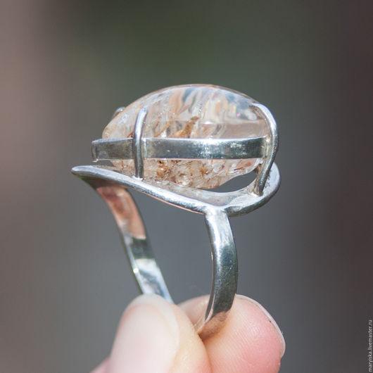 Кольца ручной работы. Ярмарка Мастеров - ручная работа. Купить Кольцо с кварцем-волосатиком (16). Handmade. Кварц-волосатик