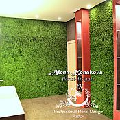Дизайн и реклама ручной работы. Ярмарка Мастеров - ручная работа Декор ванной комнаты стабилизированным мхом.. Handmade.