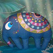 """Куклы и игрушки ручной работы. Ярмарка Мастеров - ручная работа Текстильная игрушка-подушка слон """"Максимилианус"""". Handmade."""