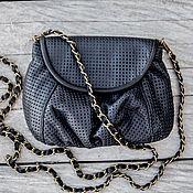 Сумки и аксессуары handmade. Livemaster - original item Handbag genuine perforated leather Lulu. Handmade.