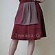 Замшевая  юбка цвета спелой черешни