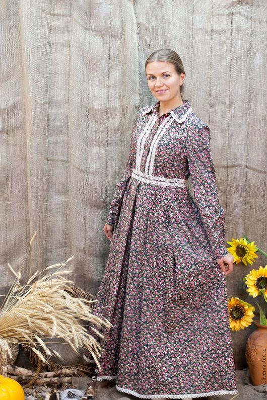 Платья ручной работы. Ярмарка Мастеров - ручная работа. Купить Платье Лизонька. Handmade. Комбинированный, длинное платье в пол