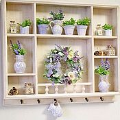 Для дома и интерьера handmade. Livemaster - original item Shelves: shelf on the wall in the style of Provence Lavender. Handmade.