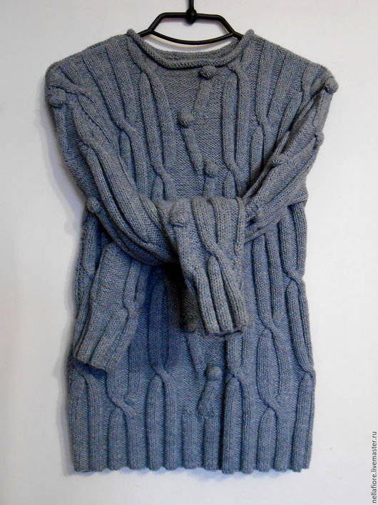 """Кофты и свитера ручной работы. Ярмарка Мастеров - ручная работа. Купить Пуловер """"Woolberry"""". Handmade. Серый, пуловер вязаный, шишечки"""