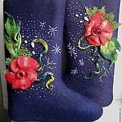 Обувь ручной работы. Ярмарка Мастеров - ручная работа валенки,дизайнерские валенки, зимняя обувь ,самовалки. Handmade.