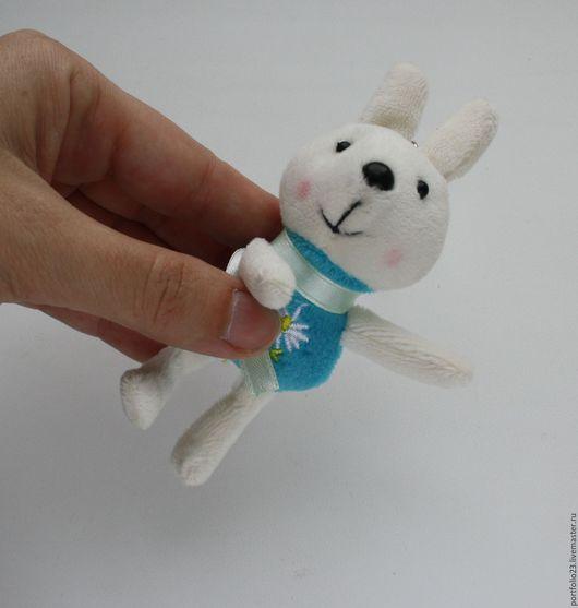 Куклы и игрушки ручной работы. Ярмарка Мастеров - ручная работа. Купить Зайчик 12 см. Handmade. Комбинированный, зайцы