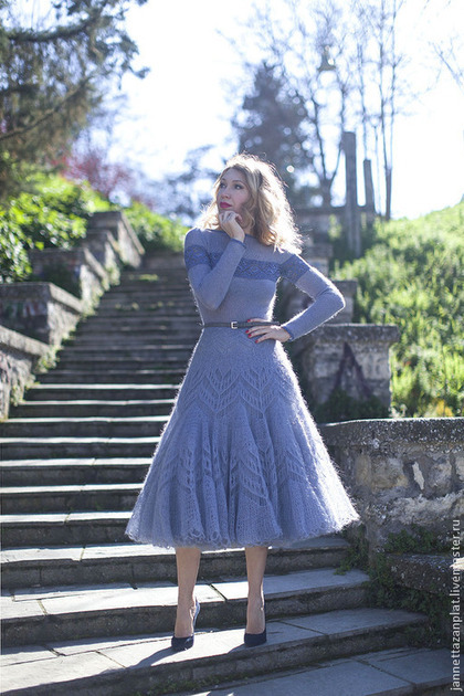 """Платья ручной работы. Ярмарка Мастеров - ручная работа. Купить платье """"Сиреневый туман"""". Handmade. Серый, пышная юбка"""