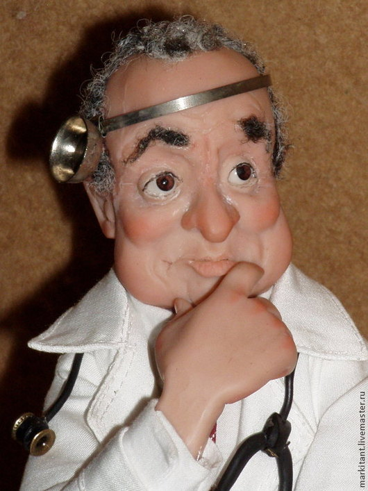 Коллекционные куклы ручной работы. Ярмарка Мастеров - ручная работа. Купить «Доктор с большой буквы » образ одесского семейного доктора. Handmade.