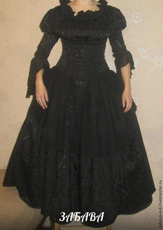 Карнавальные костюмы ручной работы. Ярмарка Мастеров - ручная работа. Купить Платье для бала Черная Королева. Handmade. Черный, корсет