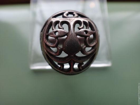 Винтажные украшения. Ярмарка Мастеров - ручная работа. Купить Потрясающий мужской перстень, винтаж 1970г, серебро 875пр. Handmade. Серебряный