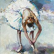 Картины и панно handmade. Livemaster - original item Ballerina - Original oil painting 50 x 70 cm. Handmade.