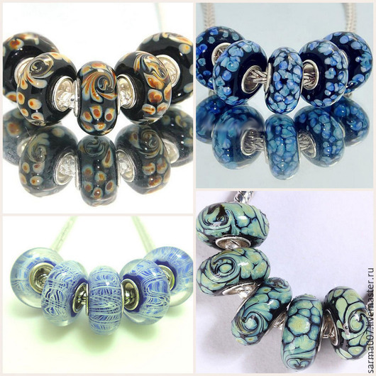 Для украшений ручной работы. Ярмарка Мастеров - ручная работа. Купить 004 Бусина в стиле Пандора ( Pandora style ) 5 штук. Handmade.