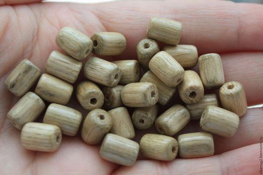 Для украшений ручной работы. Ярмарка Мастеров - ручная работа. Купить Ясень, деревянные бусины цилиндры, 10 мм. Handmade.
