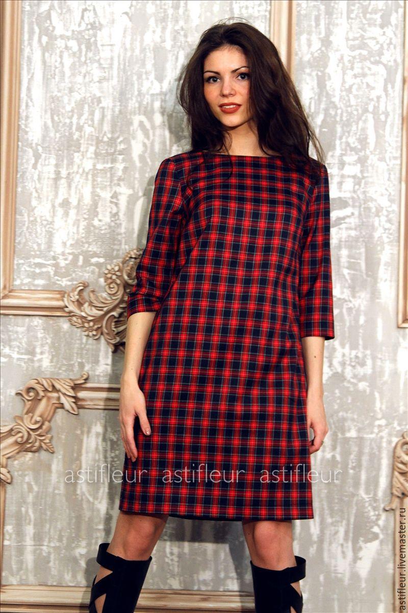 Платья из шотландки для беременных 57