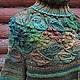 Кофты и свитера ручной работы. Заказать Большой зеленый уличный свитер. -Lisaveta-. Ярмарка Мастеров. Женский свитер, теплый подарок