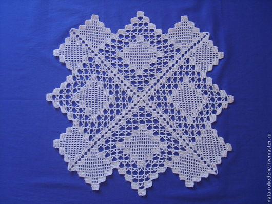 Текстиль, ковры ручной работы. Ярмарка Мастеров - ручная работа. Купить Салфетка. Handmade. Белый, салфетка крючком, филейное вязание