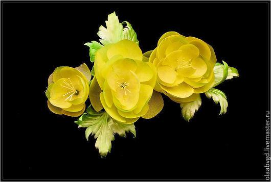 Цветы ручной работы. Ярмарка Мастеров - ручная работа. Купить Купавка нежный цветок-брошь ручной работы. Handmade.