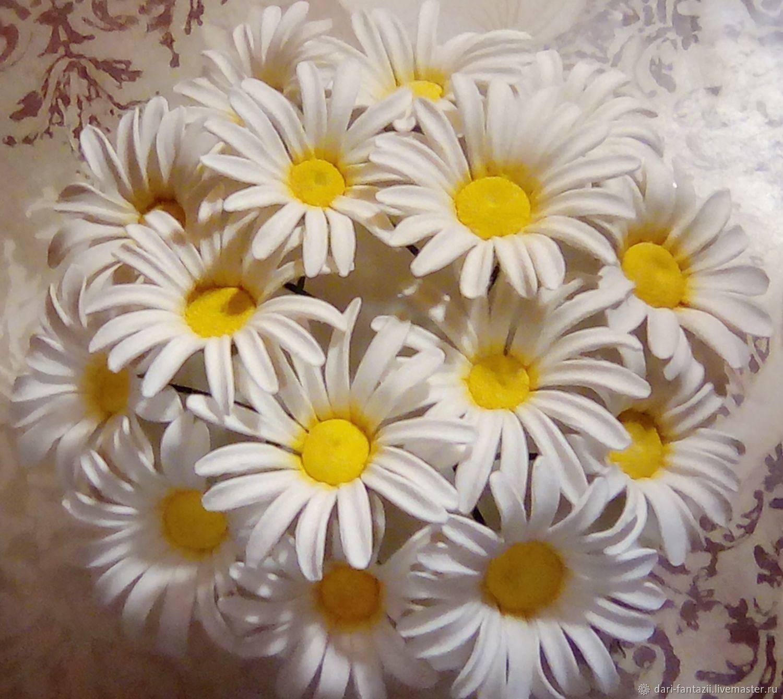 Ромашки для декора из полимерной глины, Глина, Барнаул,  Фото №1