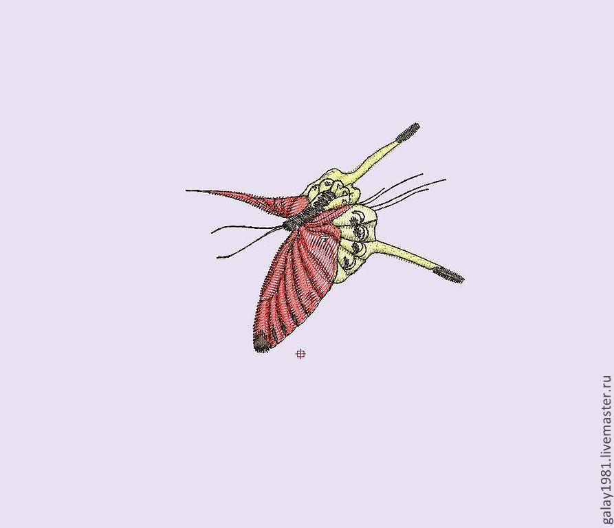 Дизайн бабочки для машинной вышивки