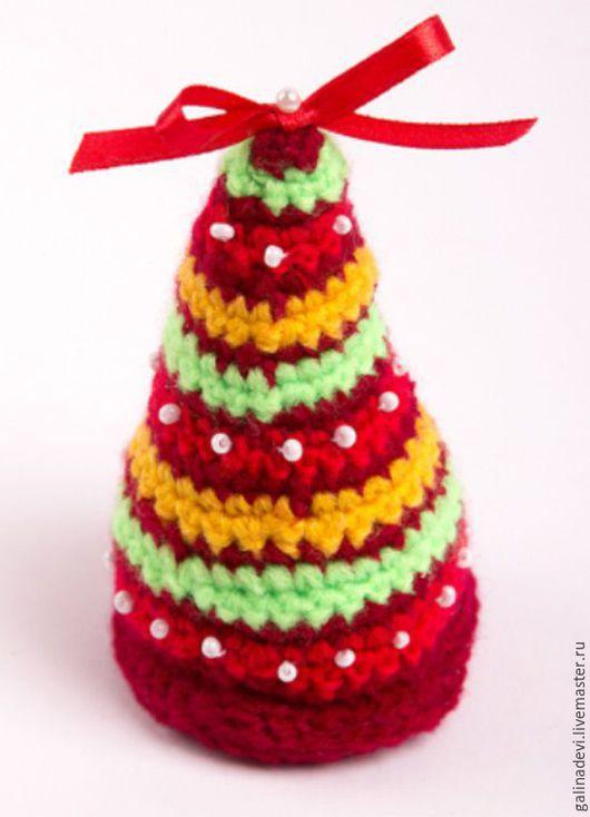 Новый год 2017 ручной работы. Ярмарка Мастеров - ручная работа. Купить НОВОГОДНЯЯ ЕЛКА вязаная разноцветная. Handmade. Комбинированный