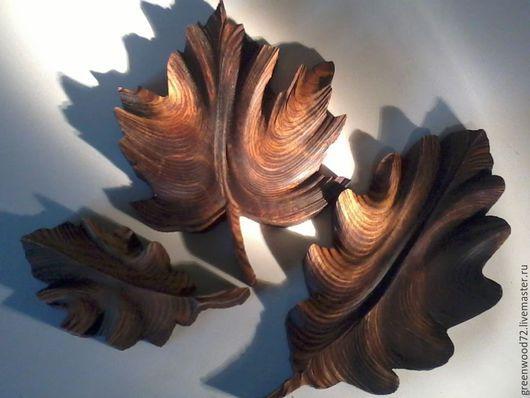 Комплекты аксессуаров ручной работы. Ярмарка Мастеров - ручная работа. Купить лист из дерева. Handmade. Пирография, интерьерное украшение, сосна