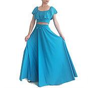 Одежда handmade. Livemaster - original item SALMA is Suit for summer skirt with crop top. Handmade.