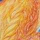"""Фэнтези ручной работы. Яркая картина маслом на холсте """"Ворота Золотого Дракона"""" огонь красный. Анна Зимородок Миниатюра & Мандалы (annazimorodok). Ярмарка Мастеров."""