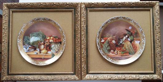 Декоративная посуда ручной работы. Ярмарка Мастеров - ручная работа. Купить тарелки парные интерьерные Осенний мотив. Handmade.