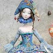 Куклы и игрушки ручной работы. Ярмарка Мастеров - ручная работа Коломбина в голубом. Handmade.