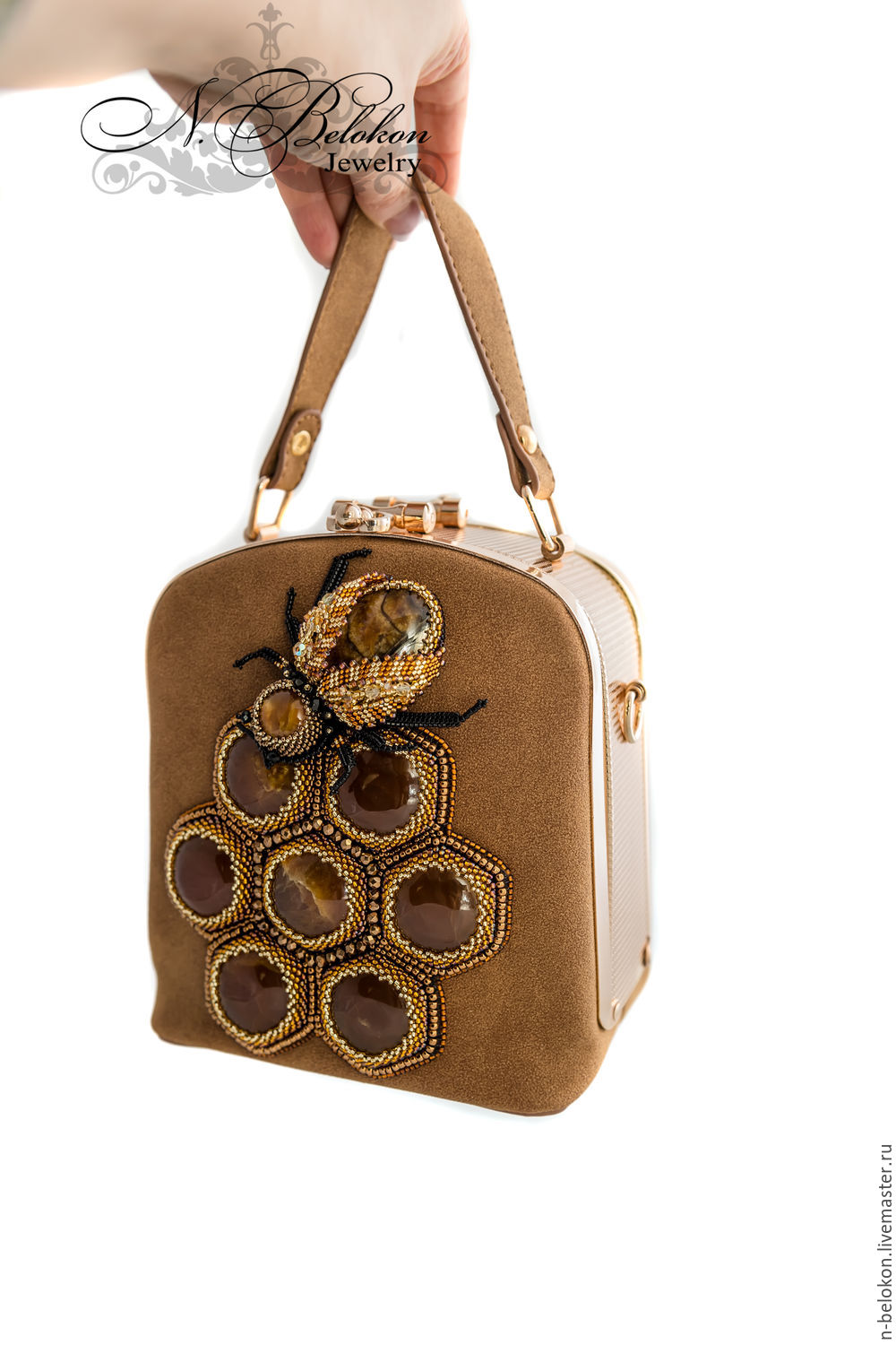 Handbag Honey With Bee And Honeycombs N Belokon Jewelry Online Ping On My