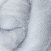 Материалы для творчества ручной работы. Ярмарка Мастеров - ручная работа Меринос 16 мк окрашенный - цвет Вуаль. Handmade.