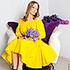 """Платья ручной работы. Ярмарка Мастеров - ручная работа. Купить Платье """"Желтый тюльпан"""". Handmade. Солнце, платье женское"""