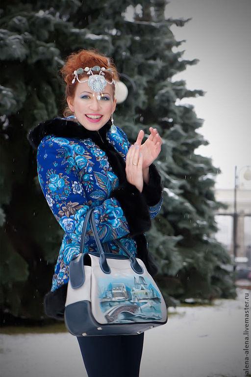 """Верхняя одежда ручной работы. Ярмарка Мастеров - ручная работа. Купить Зимнее пальто """"Признание"""".. Handmade. Цветочный, признание"""
