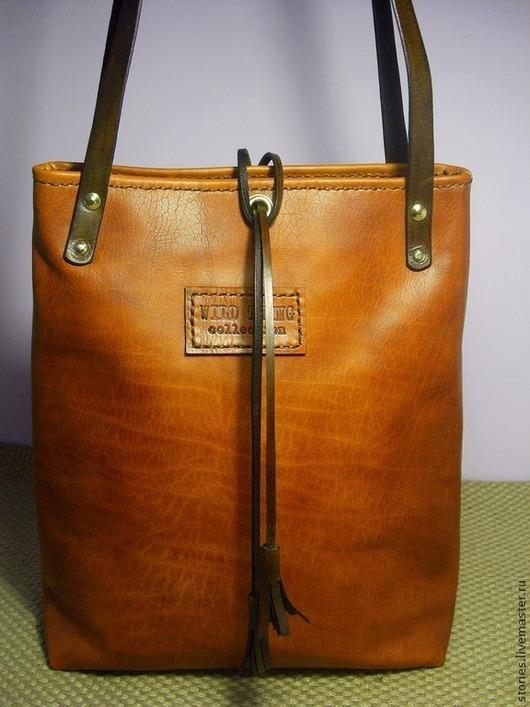 Женские сумки ручной работы. Ярмарка Мастеров - ручная работа. Купить Сумка из натуральной кожи рыжая Wild Fox 2. Handmade.