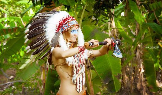 """Шапки ручной работы. Ярмарка Мастеров - ручная работа. Купить Индейский роуч """"Воинственная Лань"""" . Шапка индейца. Handmade. Шапка"""