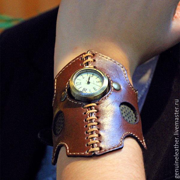 Стимпанк браслеты с часами