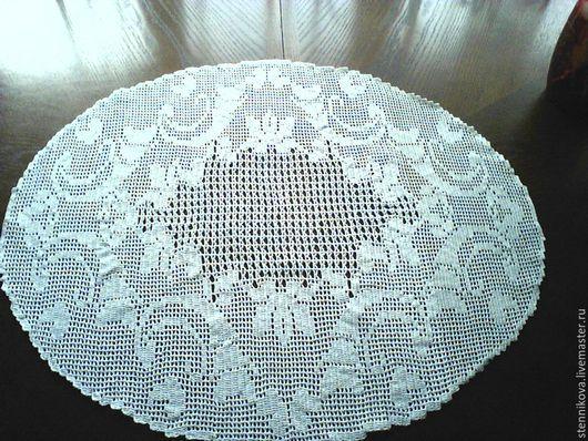 Текстиль, ковры ручной работы. Ярмарка Мастеров - ручная работа. Купить салфетка крючком. Handmade. Белый, салфетка крючком