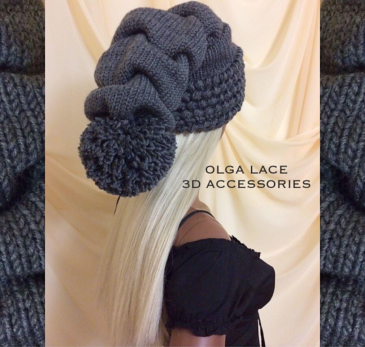 Шапки ручной работы. Ярмарка Мастеров - ручная работа. Купить 3D  шапка - колпак от Olga Lace. Handmade. Колпак