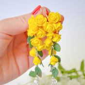 "Серьги "" Желтые розы"""