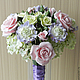 The bride's bouquet 'Pink ice'. Wedding bouquets. Flowesforever. My Livemaster. Фото №6