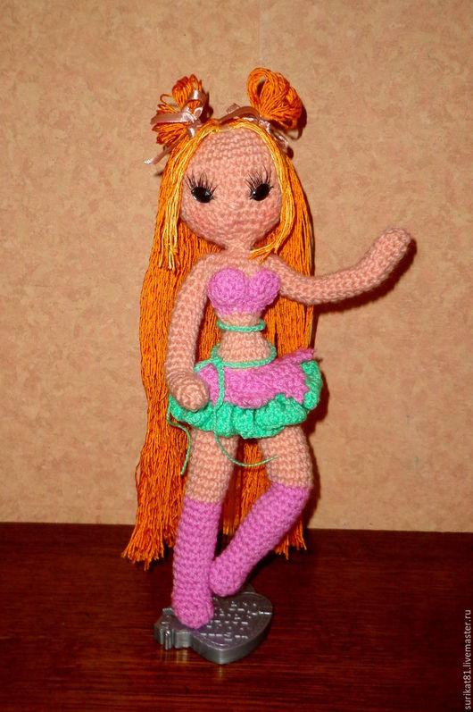Человечки ручной работы. Ярмарка Мастеров - ручная работа. Купить Кукла Амигуруми Winx Флора. Handmade. Комбинированный, амигуруми крючком