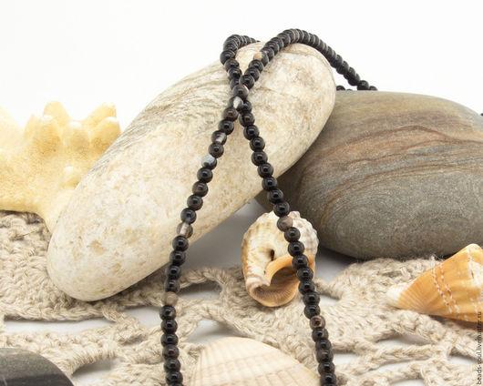 Для украшений ручной работы. Ярмарка Мастеров - ручная работа. Купить Агат черный бусины шар 3мм - арт.13-02. Handmade.